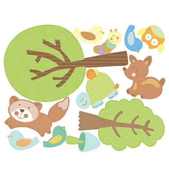 Wandsticker Baby Tiere des Waldes