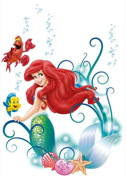 Wandsticker Meerjungfrau Disney Arielle Tapetenwelt