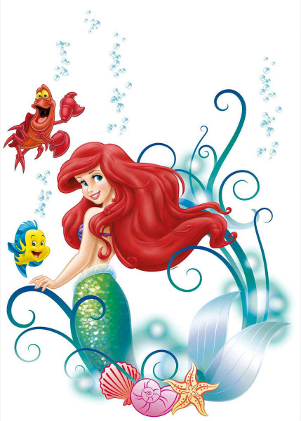 Wandsticker Meerjungfrau Disney Arielle