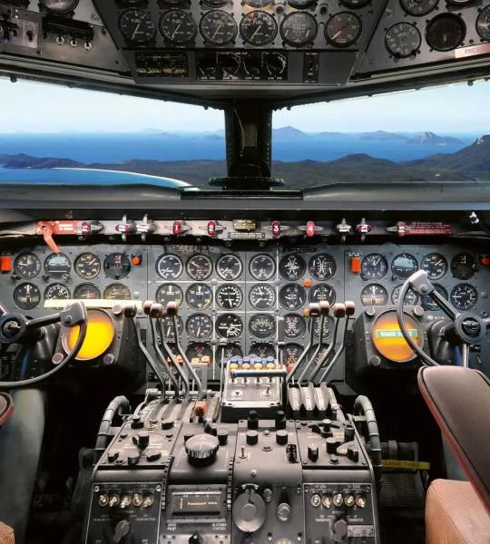 Vliestapete Cockpit 225x250