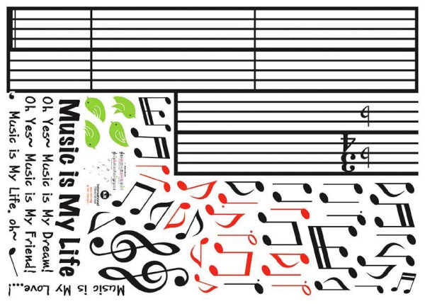 Wandsticker Music is my Life