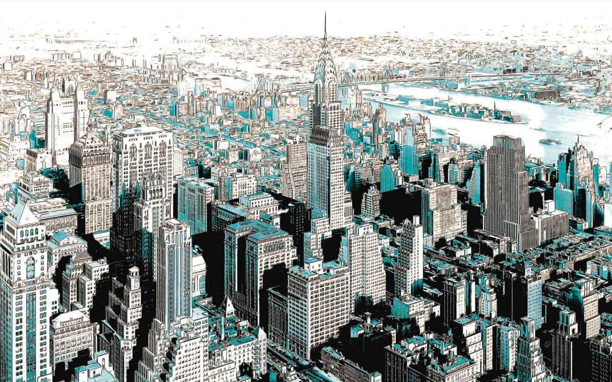 Vliestapete fototapete gotham city tapetenwelt for Vliestapete fototapete