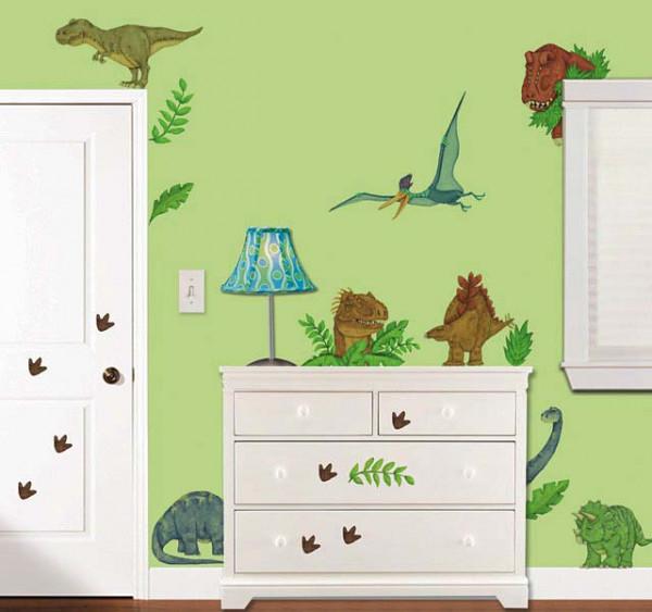 Kinderzimmer Eck-Wandsticker Dinosaurier Land