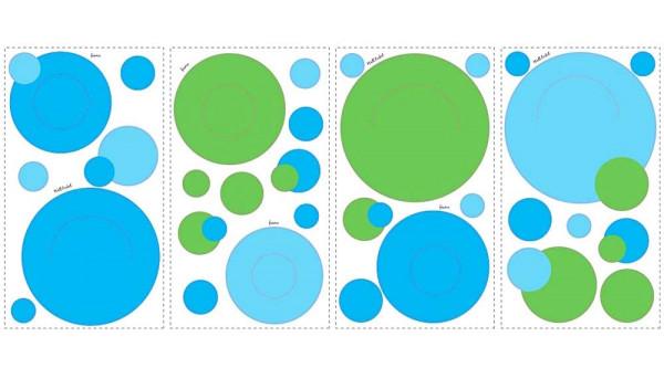 Wandsticker Wandtaschen blau grün