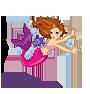 Wanddekoration Kinderzimmer Wandaufkleber Meerjungfrauen Fische Rochen