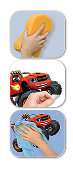 Wandsticker Set Wandaufkleber Kinderzimmer Blaze and the Monster Machines Verarbeitungstipps