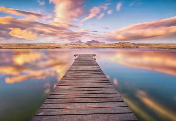 Fototapete Ausblick mit See