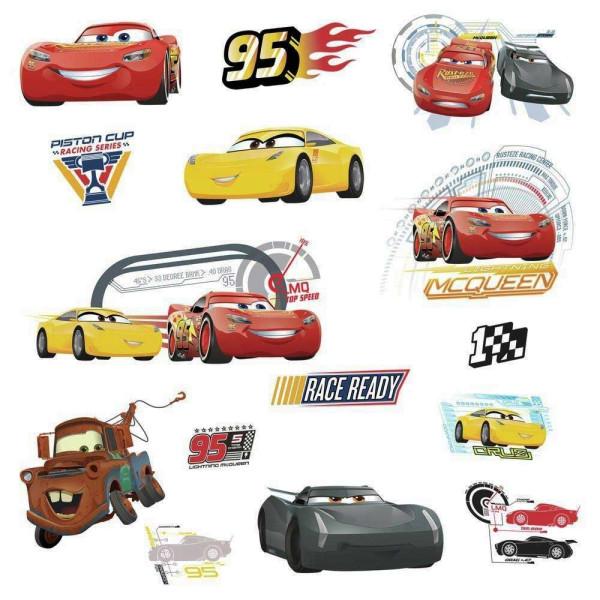 RoomMates Wandsticker Disney Pixar Cars 3 Lightning McQueen