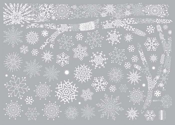 Wandtattoo Schneeflocken-Baum