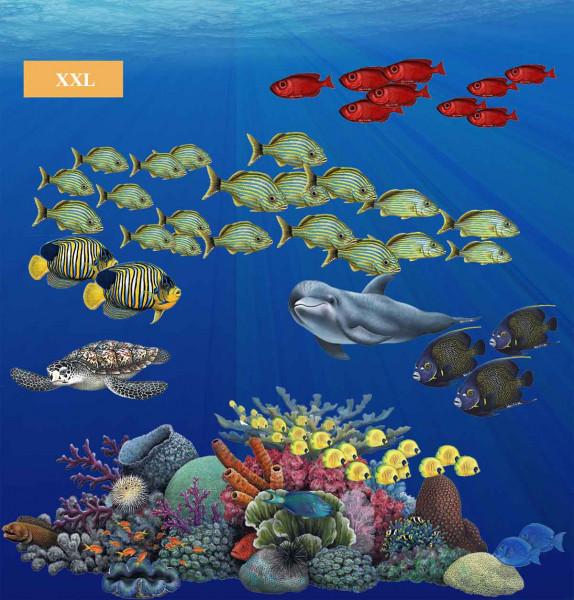 Wandsticker Unterwasserwelt tropische Fische Korallenriff