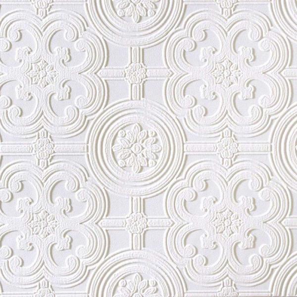 Strukturtapete geprägte Fliesen weiß