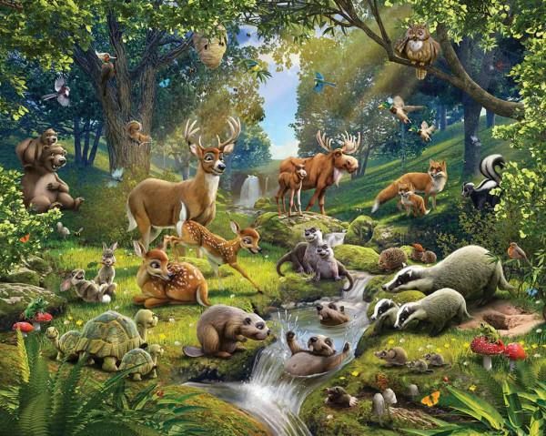 Walltastic Fototapete Kinderzimmer Waldtiere