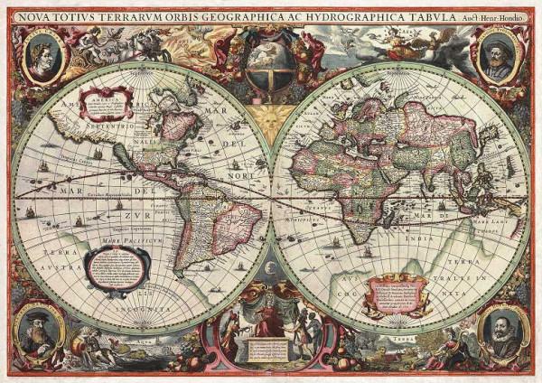 Fototapete antike Weltkarte Anno