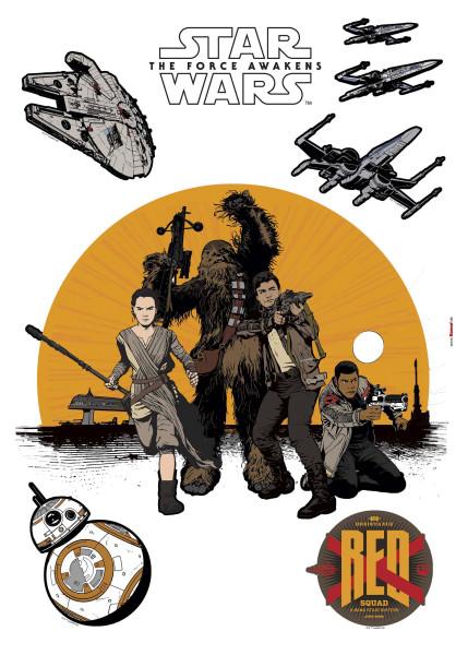 Wandsticker Star Wars Widerstand Rebellen