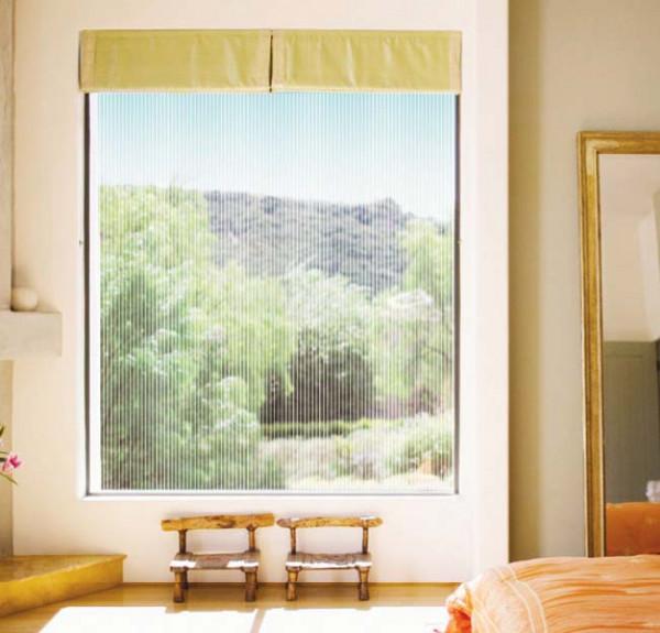 Fensterfolie selbstklebend weiße Streifen