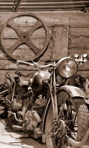 Vlies Fototapete Vintage Garage 150x250