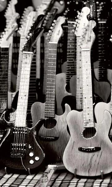 Vlies Fototapete Gitarren 150x250