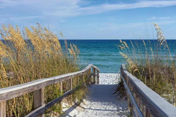 Vliestapete Strand Promenade 375x250