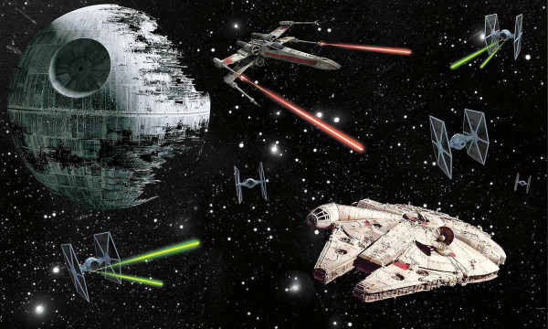 RoomMates Fototapete Star Wars Todesstern