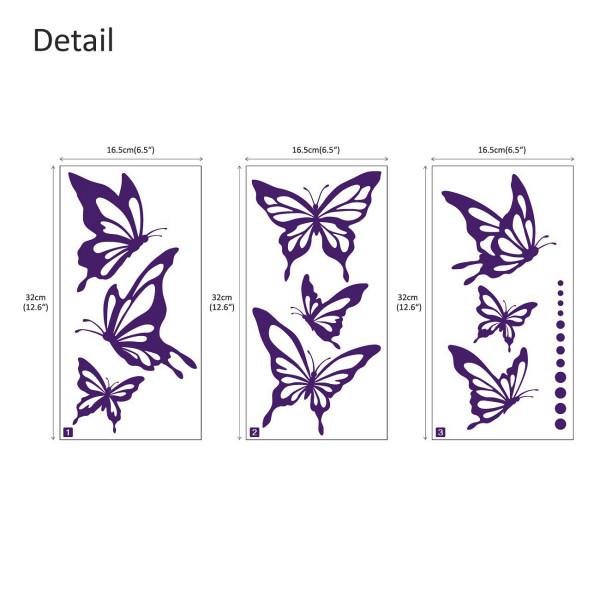 Wandtattoo moderne Schmetterlinge Falter Punkte in purpur purpur