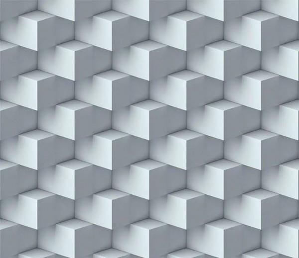 Vliestapete 3D-Optik Quader grau
