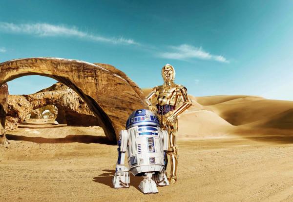 Fototapete Star Wars Droiden C3PO R2D2