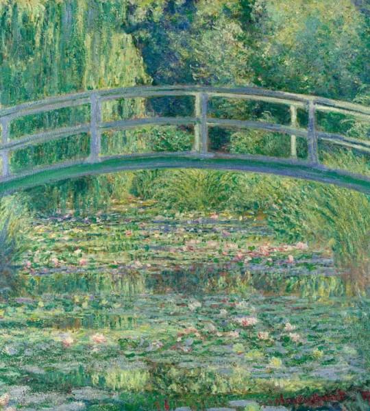 Vliestapete Teich Seerosen Monet 225x250