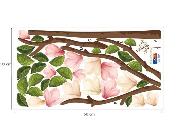 Wandsticker Magnolien Blüten Zweig