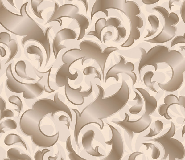 Vliestapete 3D-Optik Scroll creme