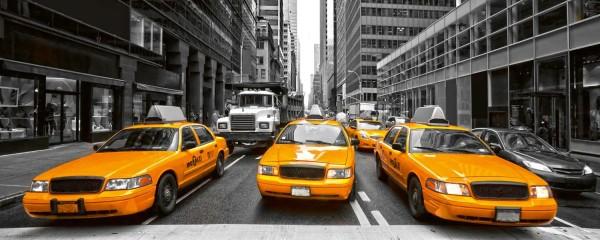 Panorama Vliestapete Yellow Taxi 375x150