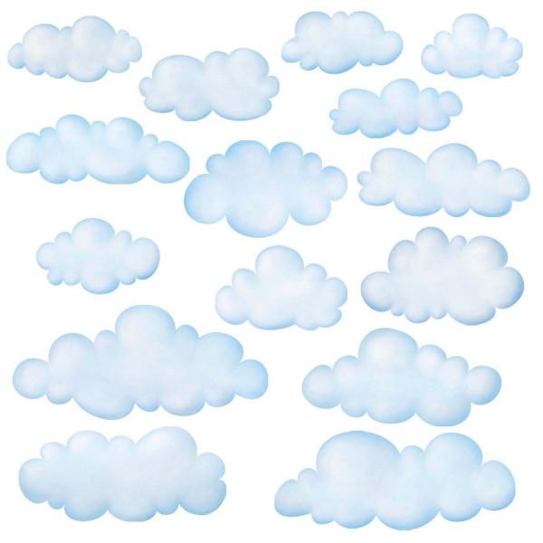 Wandsticker Wolken am Himmel