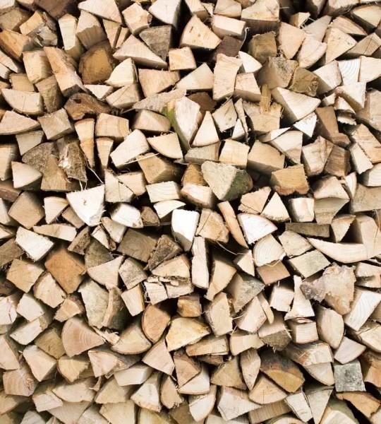 Vliestapete Brennholz 225x250