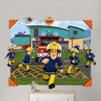 Walltastic 3D Pop Out Wandbild Feuerwehrmann Sam