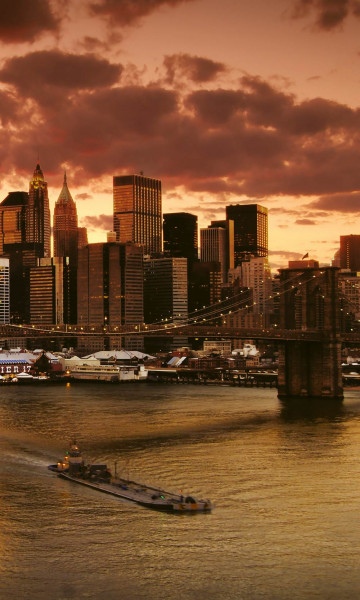 Vlies Fototapete New York 150x250
