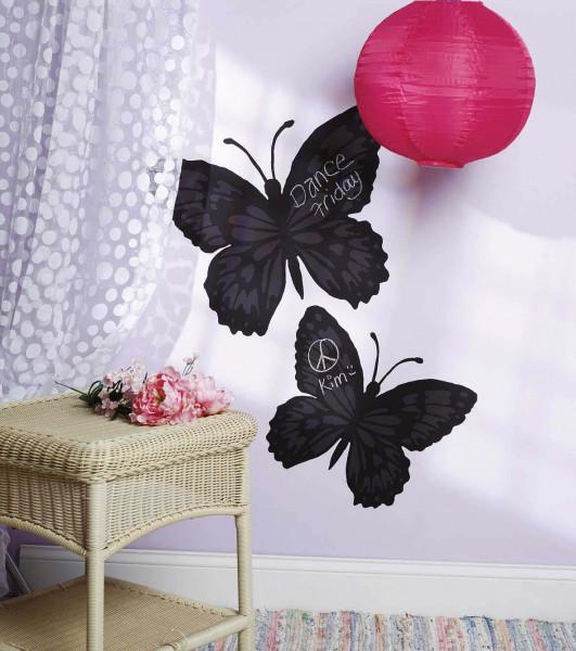Kreidetafel Wandsticker Schmetterlinge Schlafzimmer