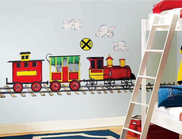Wandsticker Wandbild Eisenbahn Kinderzimmer
