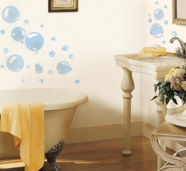 Wandsticker Seifenblasen Badezimmer