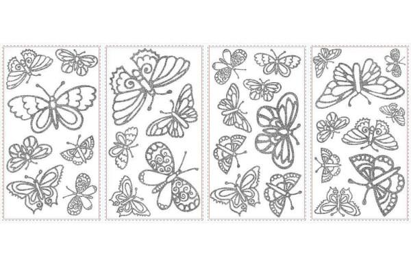 Wandsticker Glitzer Schmetterlinge