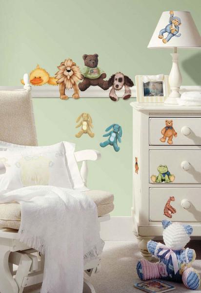 Wandsticker Kuscheltiere Teddy Babyzimmer