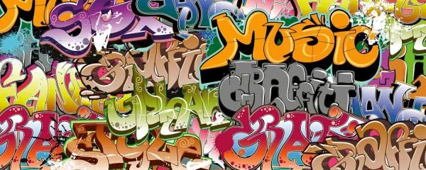 Panorama Vliestapete Graffiti 375x150