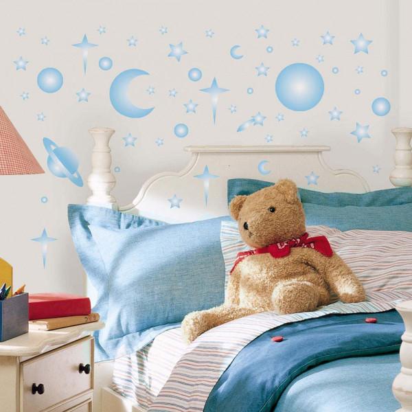 Wandsticker Leuchtsterne Sonne Mond Kinderzimmer