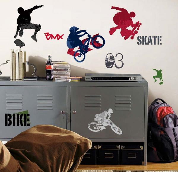 Wandsticker Extremsport Skate Bike BMX Werkstatt