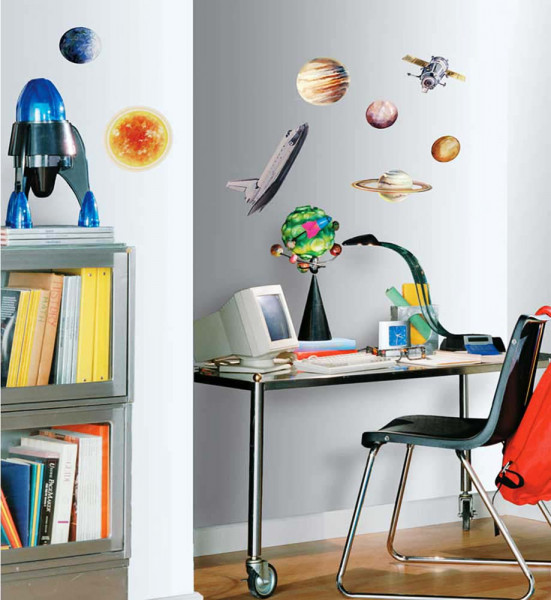 Wandsticker Wandtattoo Planeten Weltall Schreibtisch