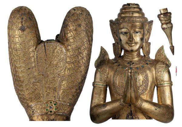 Wandsticker Goldener Buddha