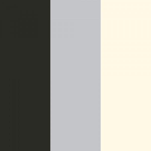 Tapete Streifen Schwarz Silber Creme