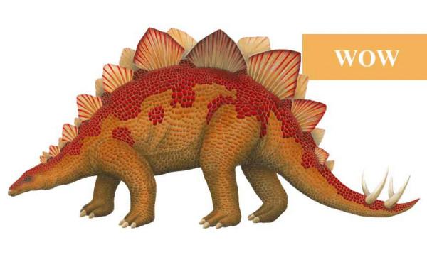 Wandsticker Dinosaurierwelt Stegosaurus WOW Größe
