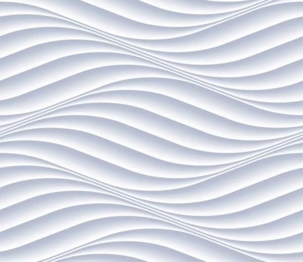 Vliestapete 3D-Optik Wellen grau