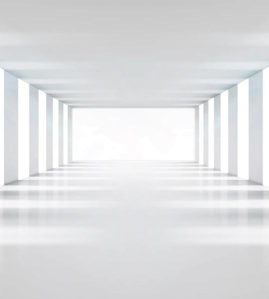 Vliestapete weißer Raum 225x250