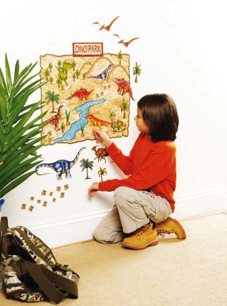 Wandsticker Wallplay Dinosaurier Park Kinderzimmer