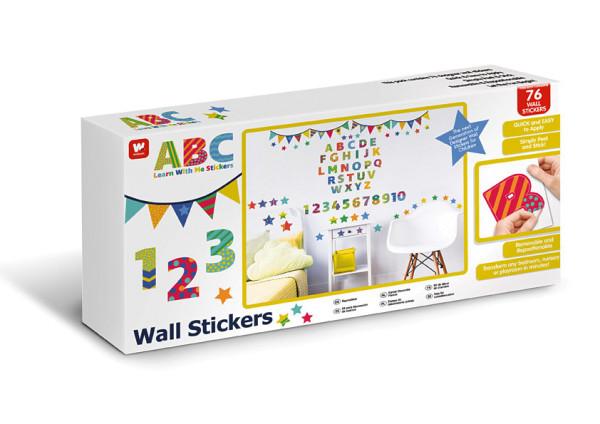 Wandsticker ABC Buchstaben Zahlen
